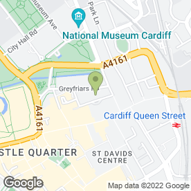 Map of Varsity in Cardiff, south glamorgan