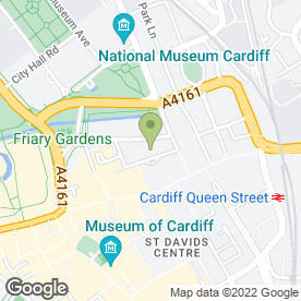 Map of Oceana in Cardiff, south glamorgan