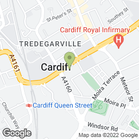 Map of MERCURE HOLLAND HOUSE HOTEL & SPA in Cardiff, south glamorgan