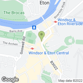 Map of Fudge Kitchen in Windsor, berkshire