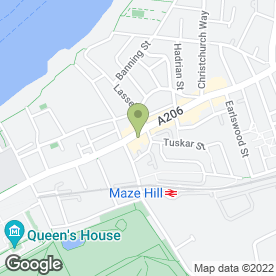Map of Green Pea in London, london