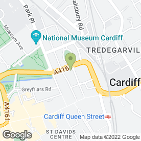 Map of The M & M Partnership in Cardiff, south glamorgan