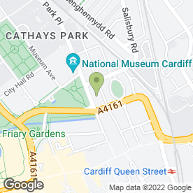 Map of Handelsbanken in Cardiff, south glamorgan