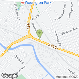 Map of National Tyres and Autocare in Cardiff, south glamorgan