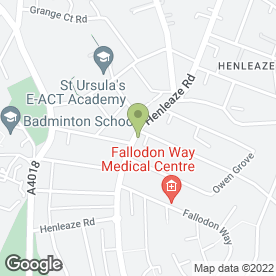 Map of CJ Hole Estate Agents in Henleaze, Bristol, avon