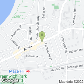 Map of Greggs in Greenwich, London, london