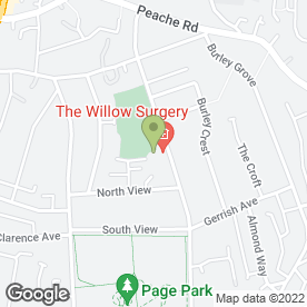 Map of Willow Surgery in Bristol, avon