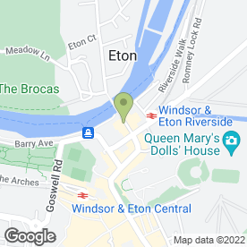 Map of Sir Christopher Wrens House Hotel in Windsor, berkshire