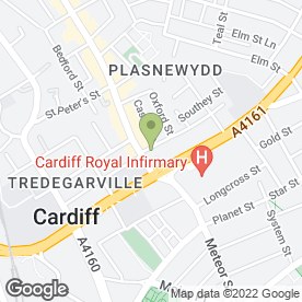 Map of Fresh Bites Ltd in Cardiff, south glamorgan