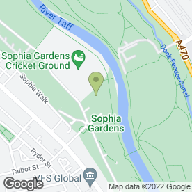 Map of Welsh Netball Association in Cardiff, south glamorgan
