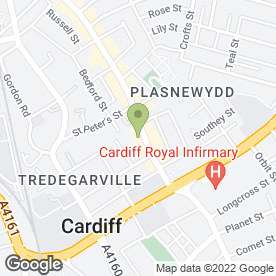 Map of Crowley & Co Solicitors in Cardiff, south glamorgan