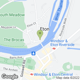Map of Eton T-Shirt Company in Eton, Windsor, berkshire