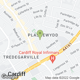 Map of Body Image Beauty & Laser Clinics in Cardiff, south glamorgan
