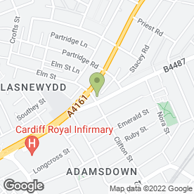 Map of Inkspot Arts & Craft Specialist in Cardiff, south glamorgan