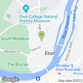 Map of Contemporary Fine Art Gallery in Eton, Windsor, berkshire