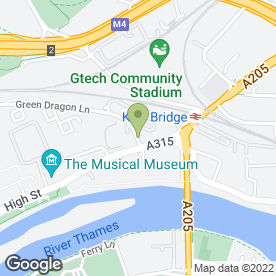 Map of M.B.B.M in Brentford, middlesex