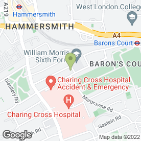 Map of AA Driving Instructor Training in Hammersmith, London, london