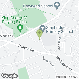 Map of Stanbridge Pre-School in Downend, Bristol, avon