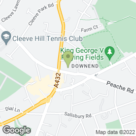 Map of Wig & Make Up People in Downend, Bristol, avon