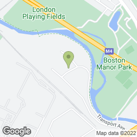 Map of Space Station in Brentford, middlesex