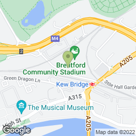 Map of Chiswick Scaffolding in Brentford, middlesex