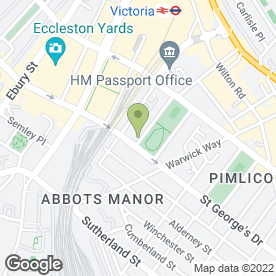 Map of London Security System in Victoria, London, london