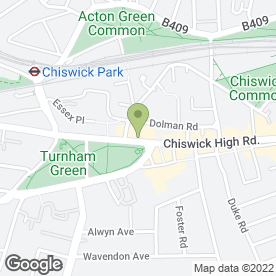 Map of Greggs in Chiswick, London, london