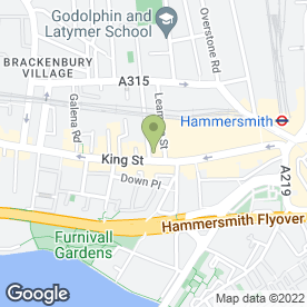 Map of KFC in Hammersmith, London, london