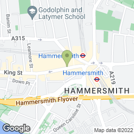 Map of The Food Court in Hammersmith, London, london