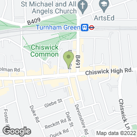 Map of Restaurant Michael Nadra in Chiswick, London, london