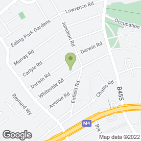 Map of Kate Ireland Weddings in Brentford, middlesex