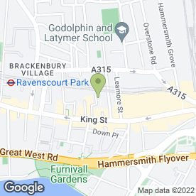 Map of Blue Cross Hammersmith Animal Hospital in London, london