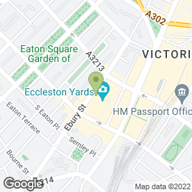 Map of Ebury Restaurant & Wine Bar in London, london