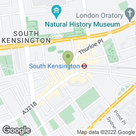 Map of Kensington Chimes Music in South Kensington, London, london