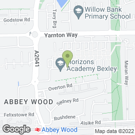 Map of Cedar Court Residential Home in Abbey Wood, London, london