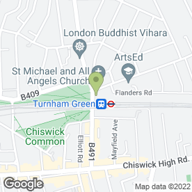 Map of Turnham Arts & Crafts in Chiswick, London, london