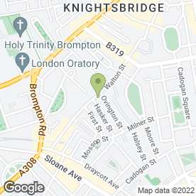 Map of Walton Ceramics of Knightsbridge in London, london