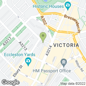Map of The Victoria in London, london