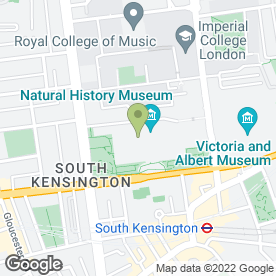 Map of The Natural History Museum in London, london