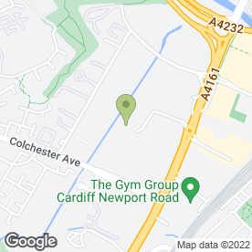 Map of Dragon Fire & Security Systems in Cardiff, south glamorgan