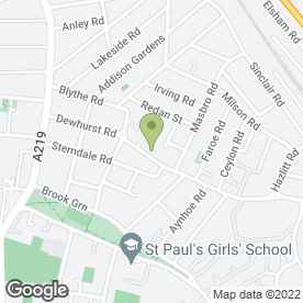 Map of Charlotte Rowe Garden Design in Brook Green, London, london