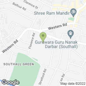 Map of Featherstone High School in Southall, middlesex