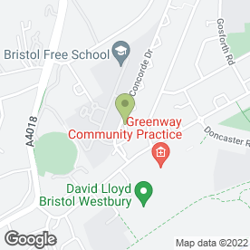Map of Westbury Veterinary Centre in Bristol, avon