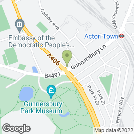 Map of Online Tool Hire Findeven Ltd in Gunnersbury Avenue, London, london