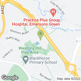Map of Paul Gregory in Emersons Green, Bristol, avon