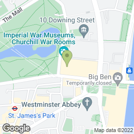 Map of Churchill Museum & Cabinet War Rooms in London, london