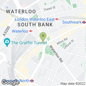 Map of Steel & Shamash in Waterloo, London, london