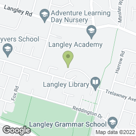 Map of A4 Cars in Trelawney Avenue, Langley, berkshire