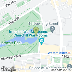 Map of Inn the Park Ltd in London, london