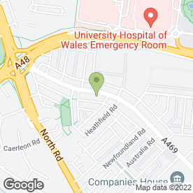 Map of Croeso Veterinary Hospital Ltd in Cardiff, south glamorgan